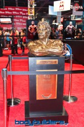 Joe Weider statue at the 2014 Olympia weekend expo
