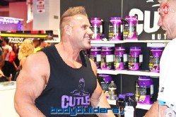 Jay Cutler nutrition booth at the 2014 Olympia weekend expo