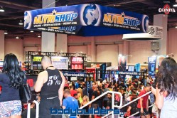 Nutrishop booth at the 2014 Olympia weekend expo