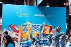 Quest nutrition cheat clean booth at the 2014 Olympia weekend expo
