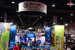 Blender Bottle booth at the 2014 Olympia weekend expo