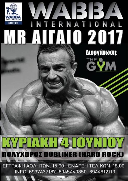 Wabba International Mr. Αιγαίο 2017