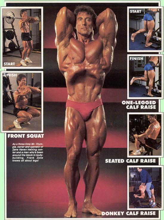 Frank Zane Exercise Legs