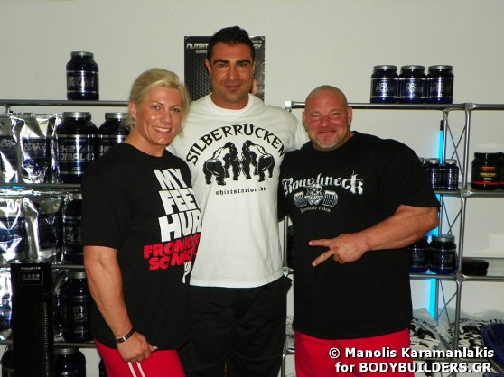 Greek Bodybuilder Manolis Karamanlakis with Peter Trenz