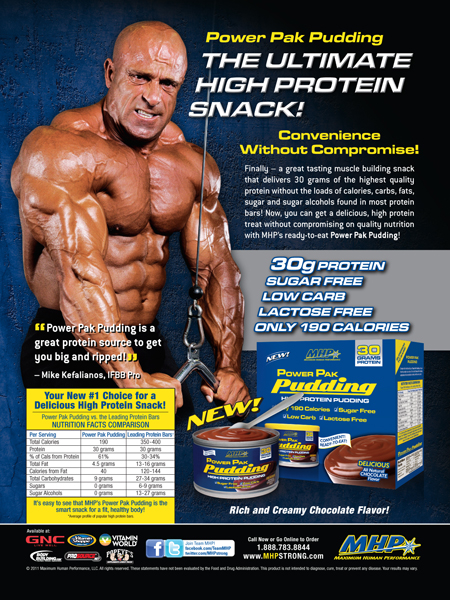 MHP Power Pak High Protein Pudding - Michael Kefalianos