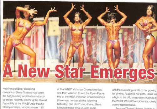 Magazine Spread About Ellena